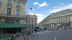 City traffic on Paris street, France - stock footage