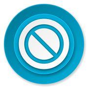 Access denied icon. Stock Illustration