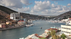 A view from the mountain to Balaklava Bay. Stock Footage