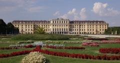 UltraHD 4K Iconic Schonbrunn Palace Park Gardens Vienna Landmark Austrian Icon Stock Footage