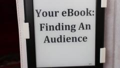 "E-BOOK Camera Move - ""Finding and Audience"" Stock Footage"