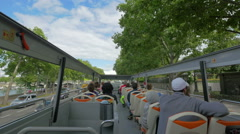 Paris from a tour bus, France - stock footage