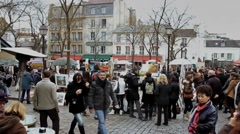 PlaceDuTertre1 with audio at 29.9fps Stock Footage