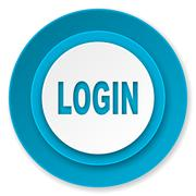Login icon. Stock Illustration