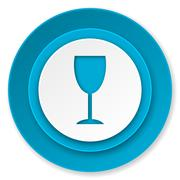 Stock Illustration of alcohol  icon, glass sign.