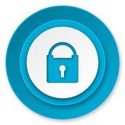 padlock icon, secure sign. - stock illustration