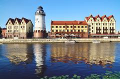 Fishing village - tourist attraction of kaliningrad (until 1946 koenigsberg), Stock Photos