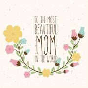 Stock Illustration of Happy Mothers Day Design