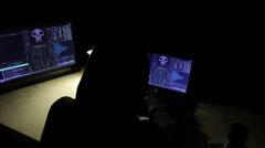 Hacker typing away Stock Footage