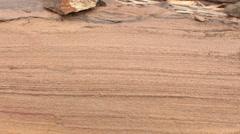 Geology - Sedimentary Sandstone laminations Stock Footage