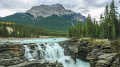 Athabasca Falls Stock Footage