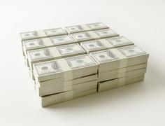 stack of $100 bills. - stock illustration