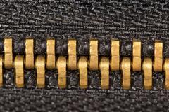 Locking zipper. close-up Stock Photos