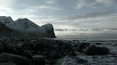 Lofoten rocky shore - stock footage