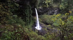 North Falls, Silver Falls State Park, Oregon Stock Footage