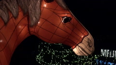 Chinese lanterns known as Yuanxiao Festival,  Year of the Horse Taiwán-Dan Stock Footage