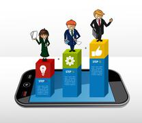 Mobile business infographic concept Stock Illustration