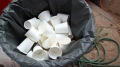 Garbage at landfill Stock Footage