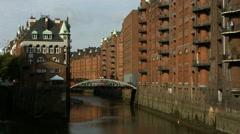Wasserschloss Speicherstadt Hamburg Stock Footage