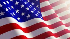 American flag. Piirros