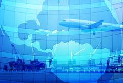 Stock Illustration of export and trading