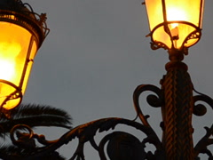 Lamp against the sky. Related clips have in my portfolio in HD. Stock Footage