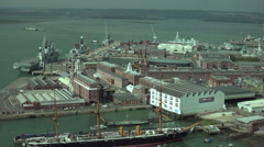 Portsmouth historic naval dockyard, england Stock Footage
