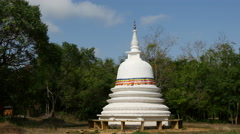 Pagoda close to Sigiraya, lion rock and pidurangala in Sri Lanka Stock Footage