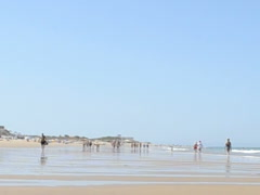 Beach on the ocean. Related clips are in my portfolio in 1920x1080. Stock Footage