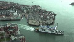 Wightlink ferry leaves portsmouth for isle of wight, england Stock Footage