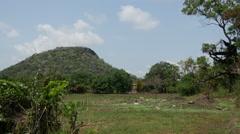 Pidurangala rock in Sri Lanka Stock Footage