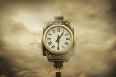 time and clouds - stock photo