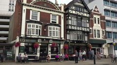 pubs on the hard street, portsmouth, england - stock footage