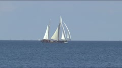 Ship is sailing on the Markermeer Stock Footage