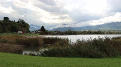 Lake lac du Bourget in the French Alps 3 Stock Footage