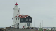 The lighthouse of Marken Stock Footage
