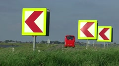 Traffic over the dike to Marken Stock Footage