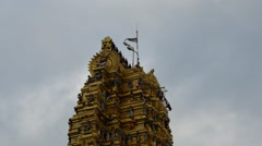 Top of the Sri Muthumariamman Thevasthanam hindu tempel in sri lanka Stock Footage