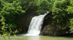 Big waterfall in Central Province, Sri lanka Stock Footage