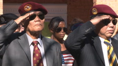 old ARVN troops celebrate Veterans Day in Virginia (Clip 9 of 10) - stock footage