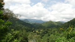 Landscape time lapse from the Central Province, Sri lanka Stock Footage