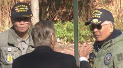 old ARVN troops celebrate Veterans Day in Virginia (Clip 5 of 10) - stock footage