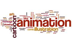 Stock Illustration of animation word cloud