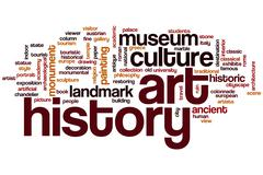 Art history word cloud Stock Illustration