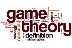 game theory word cloud - stock illustration