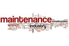maintenance word cloud - stock illustration