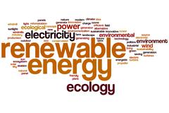 Renewable energy word cloud Stock Illustration