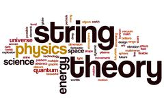 string theory word cloud - stock illustration