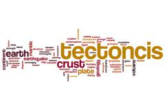 Tectonics word cloud Stock Illustration