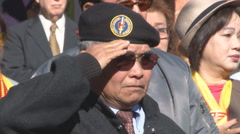 old ARVN troops celebrate Veterans Day in Virginia (Clip 3 of 10) - stock footage